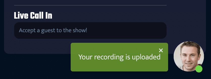 riverside instruction recording uploaded